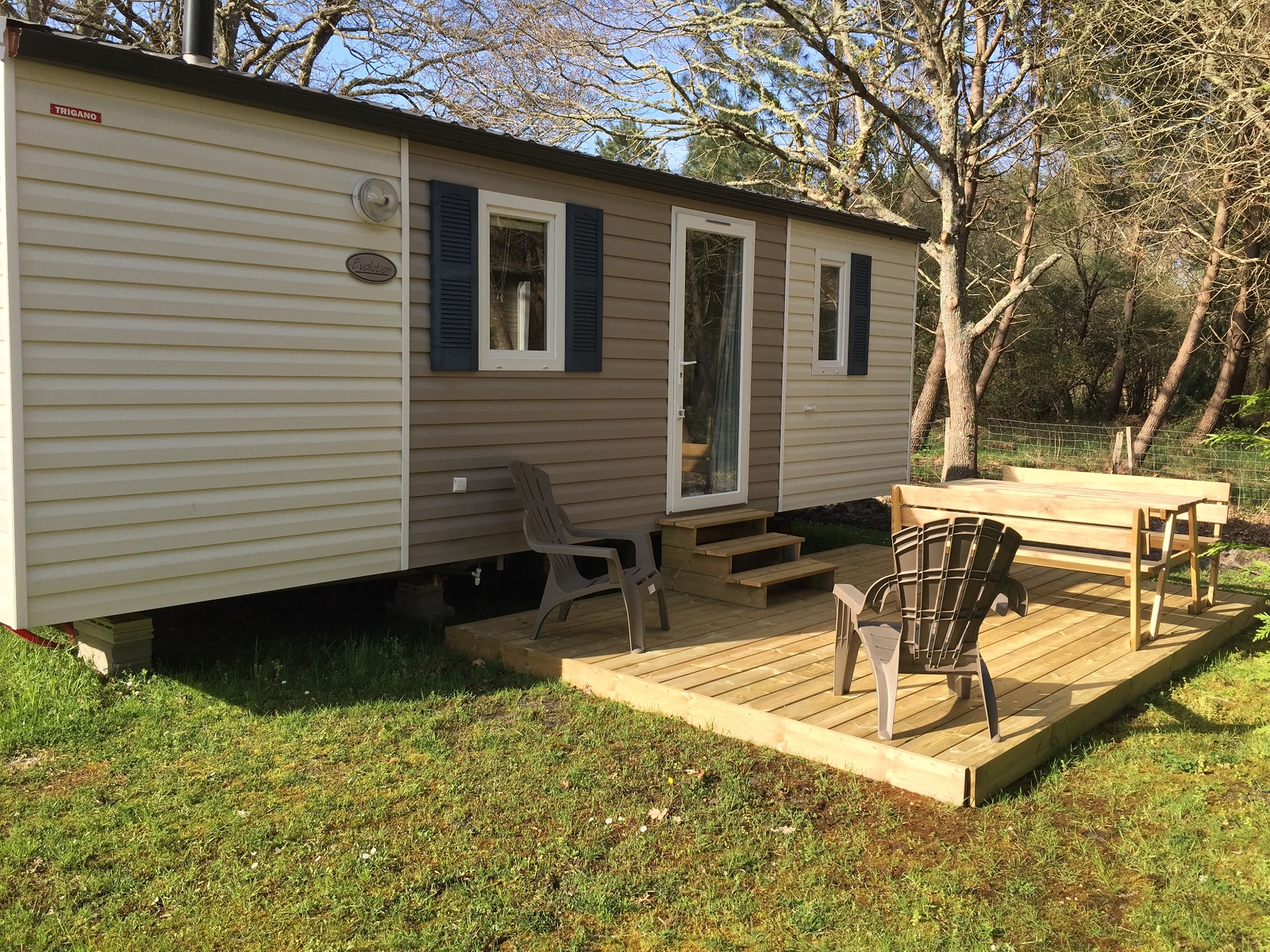 Mobil-home Evolution -camping La Chesnays-nouvelle aquitaine